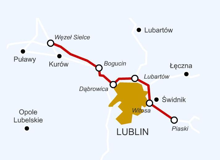 Północna i wschodnia obwodnica Lublina- droga s17, S12