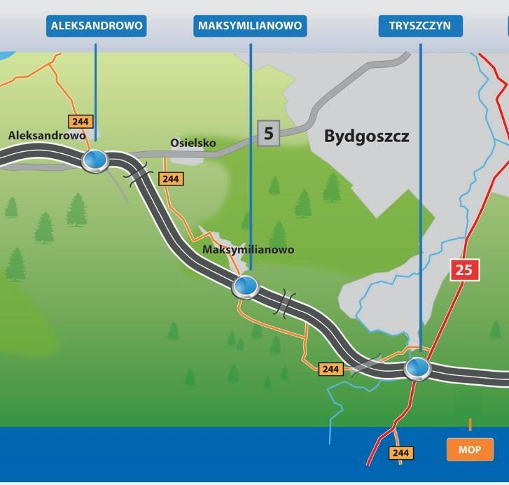 Droga ekspresowa S5 Aleksandrowo - Tryszczyn. Obwodnica Bydgoszczy