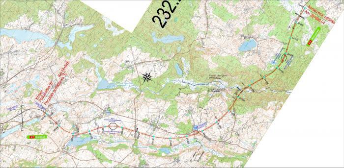 Mapa S7 Ostróda - Olsztyn