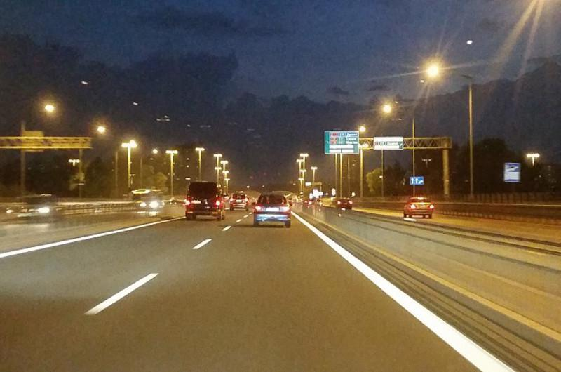Trasa AK w ciągu drogi eskpresowej S8 w Warszawie