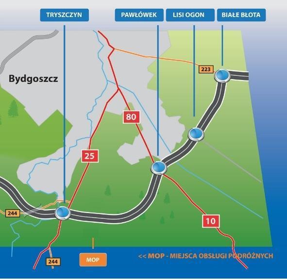 Droga ekspresowa S5 Tryszczyn - Białe Błota. Obwodnica Bydgoszczy