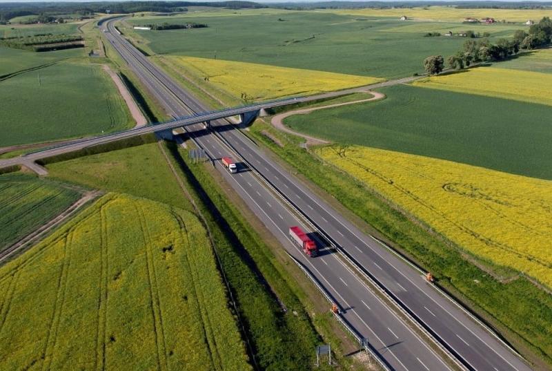 Autostrada A1 między Rusocinem i Toruniem