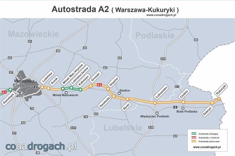 Mapa A2 Warszawa - Kukuryki