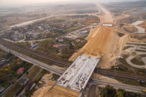 Zaawansowanie prac na budowie autostrady A1 - obwodnicy Częstochowy w galerii zdjęć