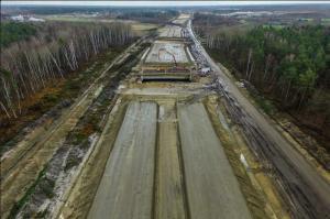 Budowa autostrady A2 Warszawa - Mińsk Mazowiecki. Zdjęcia odcinka w. Lubelska - w. Konik