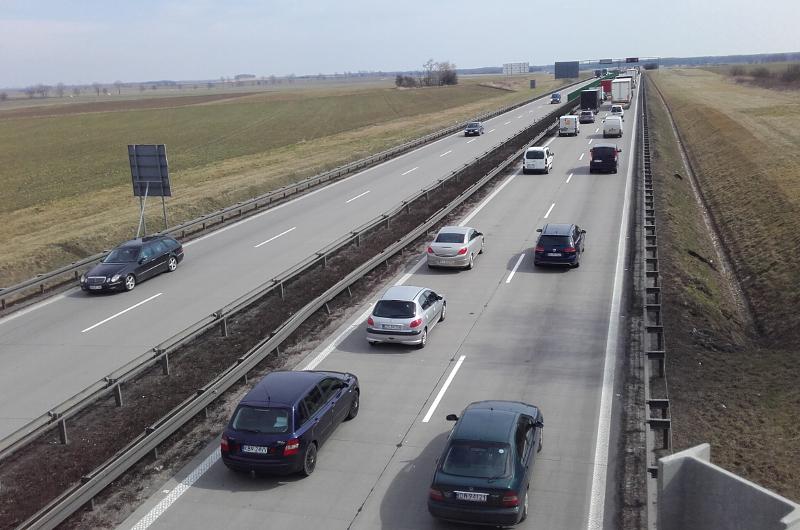 Zamknięta autostrada A4 pod Wrocławiem. Wypadek i korek w kierunku Zgorzelca