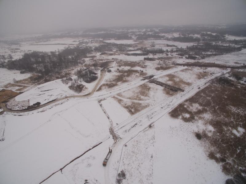 Budowa autostrady A1 Blachownia - Zawodzie. Styczeń 2017 r.