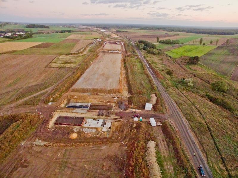 Budowa autostrady A1 Zawodzie - Woźniki