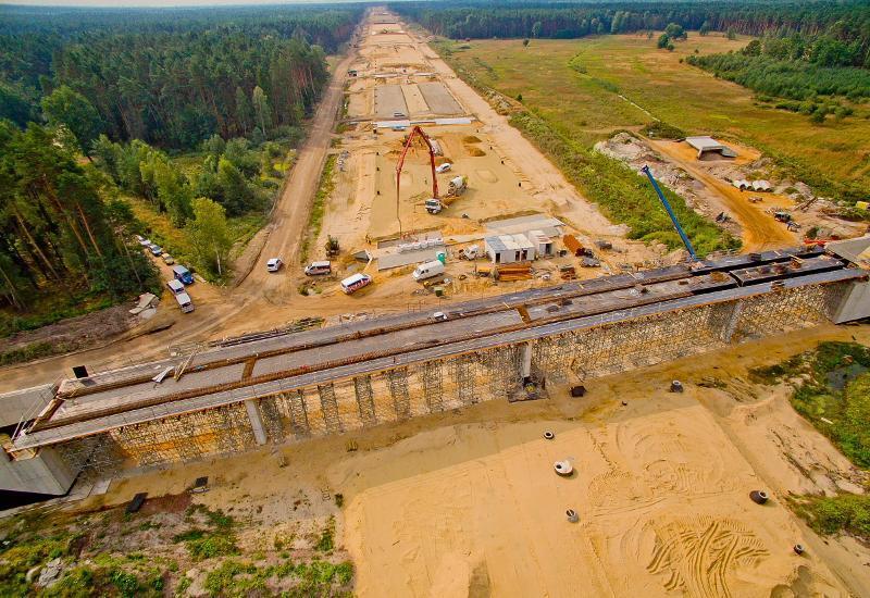 Budowa autostrady A1 w okolicach Pyrzowic
