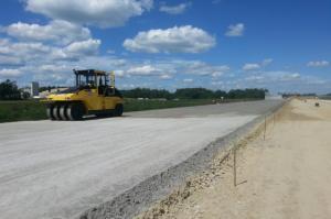 Półmetek na budowie autostrady A1 Częstochowa - Pyrzowice