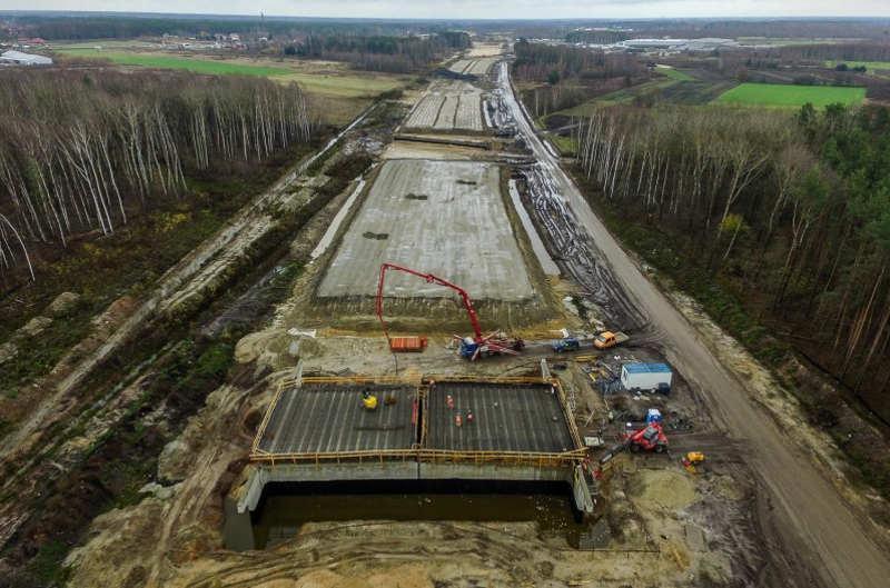 Budowa autostrady A2 Warszawa - Mińsk Maz.