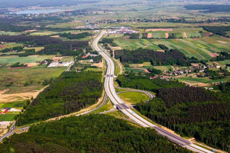 Wyznaczanie trasy na mapie Polski