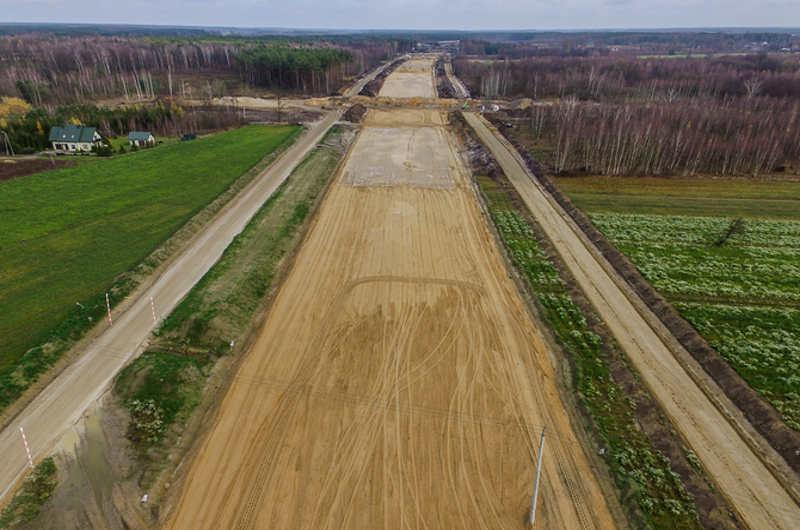 Budowa autostrady A2 Warszawa - Mińsk Mazowiecki