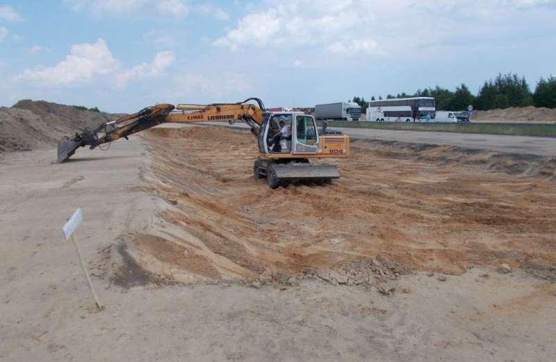 Budowa autostrady A1 Częstochowa - granica województw. Okolice węzła Mykanów
