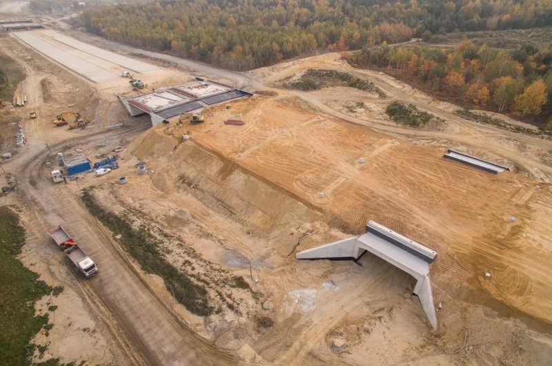 Budowa autostrady A1 - obwodnicy Częstochowy, odcinek F. Zdjecia: październik 2018 r., GDDKIA