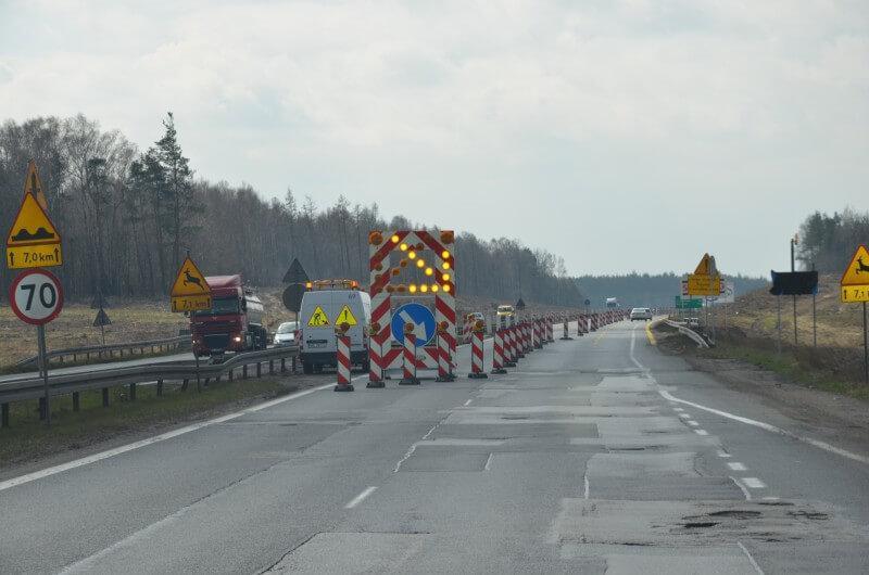 Utrudnienia na DK1 w związku z budową autostrady A1 Tuszyn - Pyrzowice