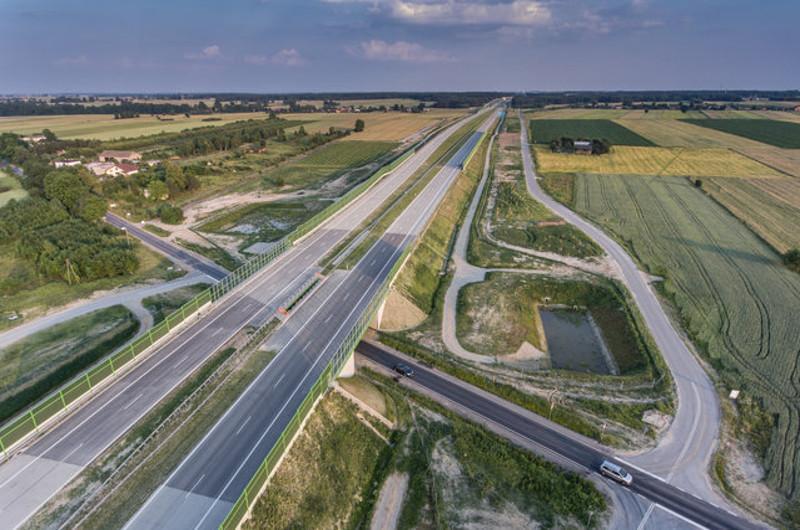 Autostrada A1 w okolicach Łodzi