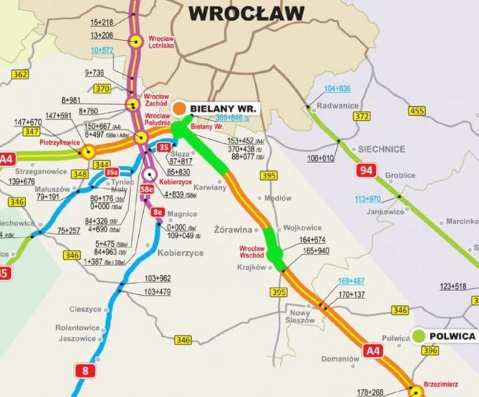 Remont odcinka autstrady A4 Wrocław - Krajków