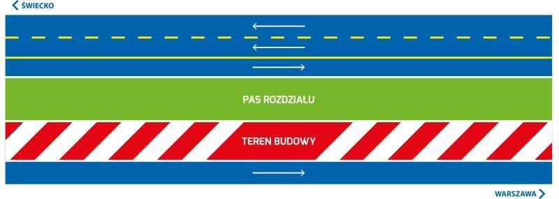 Schemat organizacji ruchu na autostradzie A2 od 17 marca