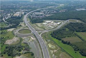 Remont węzła Gliwice Wschód łączącego autostradę A1 i DK88