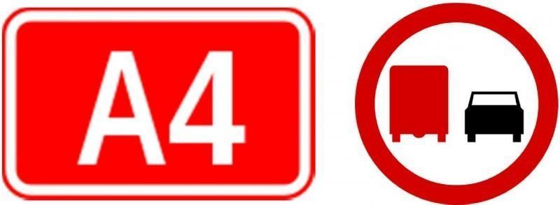 Utrudnienia, zakaz wyprzedzania na autostradzie A4