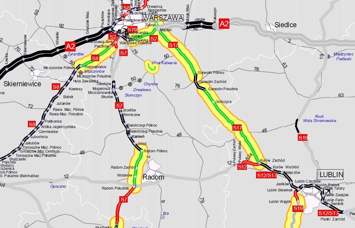 Odcinek drogi ekspresowej S17 Garwolin - granica województwa w budowie
