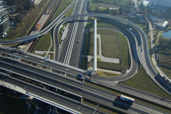 Węzeł Marynarska - droga eskpersowa S79 w Warszawie
