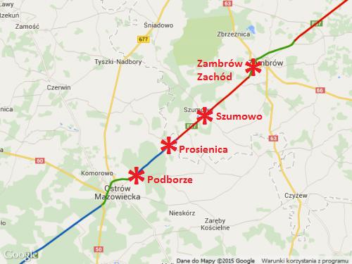 Droga S8 Ostrów Mazowiecka - Zambrów