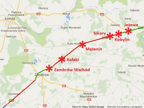 Droga ekspresowa S8 Zambrów - Jeżewo