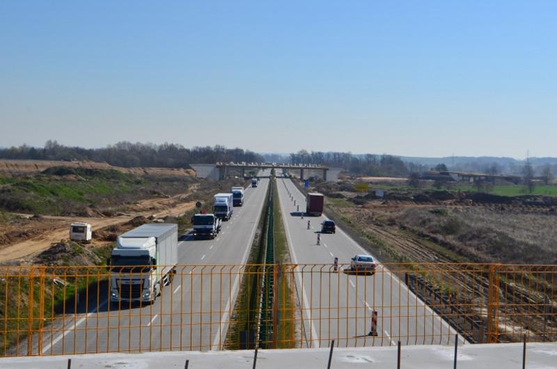 Po jednym pasie na autostradzie A4 Złotoryja - Legnica