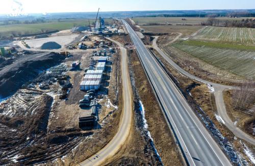 Wiosna na budowie drogi ekspresowej S5