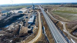 Budowa drogi S5 w kujawsko-pomorskim - zdjęcia z marca 2018