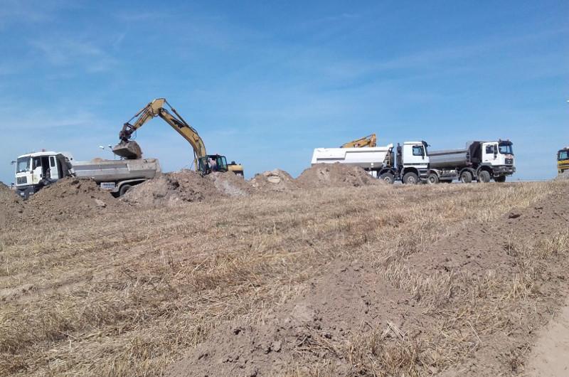 Budowa drogi ekspresowej S5  w okolicach Szubina