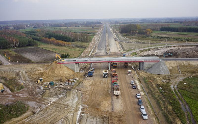 Budowa drogi ekspresowej S12 w okolicach Puław