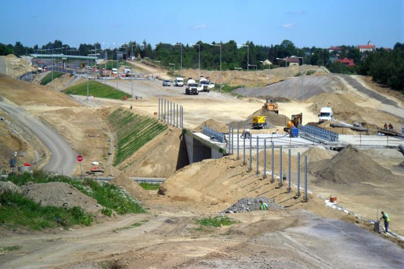 Na budowie drogi ekspresowej S19 Świlcza – Rzeszów Południe
