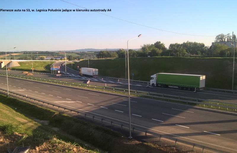 Droga ekspresowa S3 w okolicach Legnicy