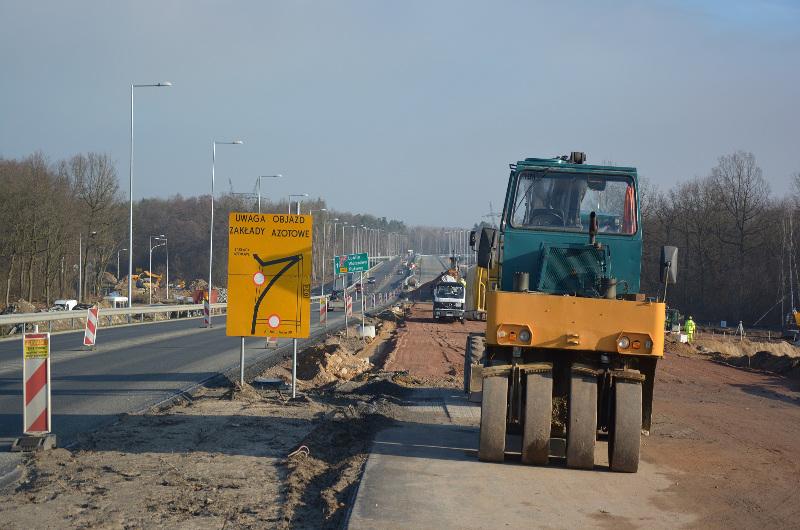 Budowa S12: Jeździmy łącznicami węzła Puławy Wschód
