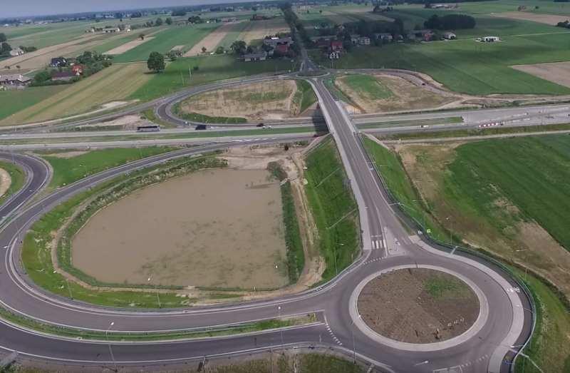 Węzeł Trojanów w ciągu drogi ekspresowej S17 Garwolin - granica województw