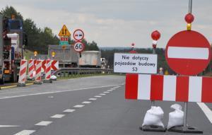 Uwaga! Rozkopana droga S3 i olbrzymie korki koło Gorzowa