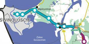 Mapa drogi ekspresowej S3 Troszyn - Świnoujście
