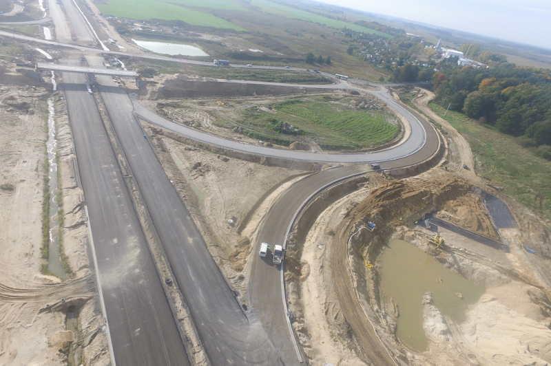 Powstająca droga ekspresowa S6 koło Kołobrzegu