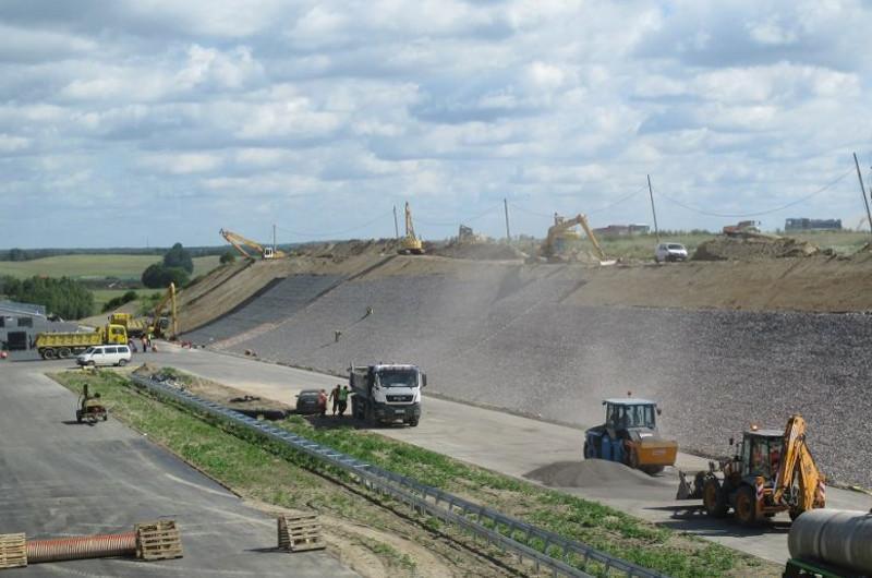 Budowa drogi ekspresowej S7 w okolicy Ostródy