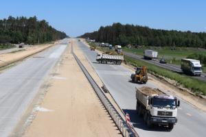 Intensywne prace na S8 z Wyszkowa na Podlasie