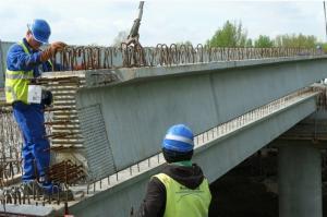 Droga ekspresowa S1: Ostatnia belka na estakadzie w Sosnowcu