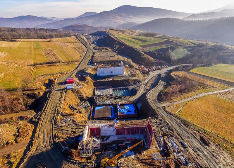 Budowa Zakopianki jako drogi ekspresowej S7 Lubień - Rabka