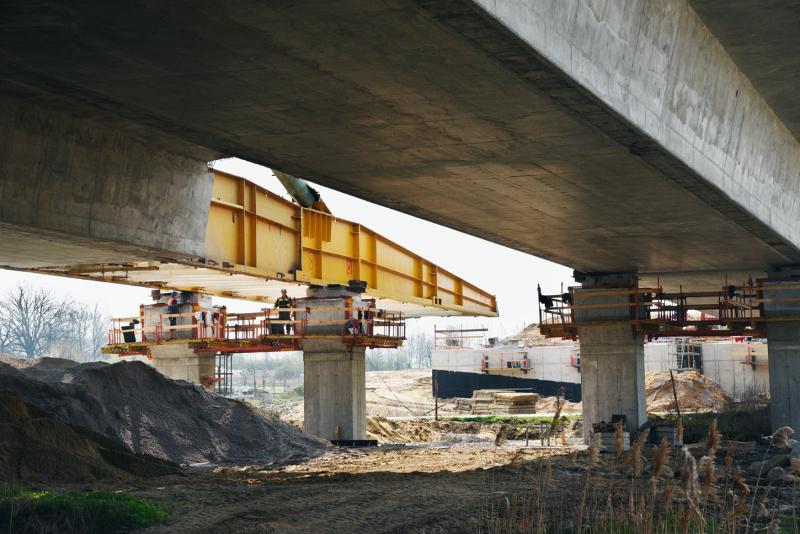 Most Ława w ciągu drogi ekspresowej S5 Wrocław - Poznań