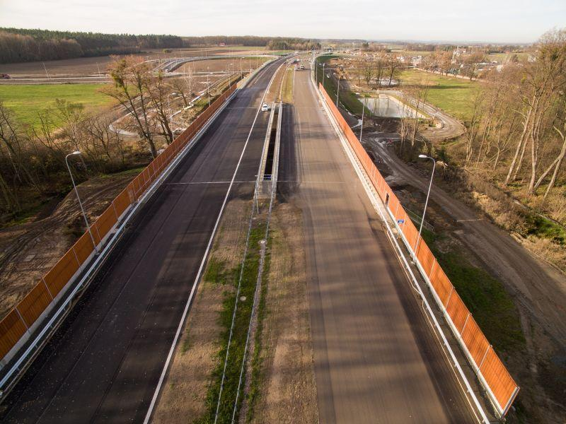 Most w ciągu drogi ekspresowej S5na Dolnym Śląsku