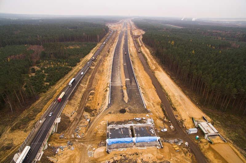 Postęp prac na S3 Polkowice - Lubin