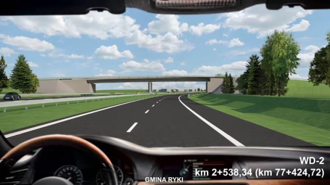 """Taka będzie droga S17 Warszawa - Lublin! Odcinek granica woj. mazowieckiego i lubelskiego – węzeł """"Skrudki"""