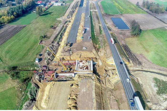 Budowa drogi ekspresowej S17 na odc. Skrudki - granica województw